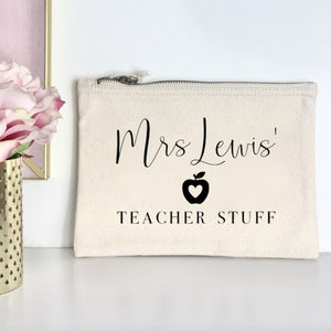 Personalised Teacher Stuff Pouch