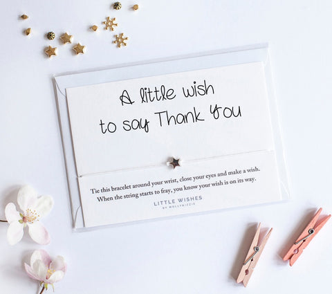 Little Wishes - Thank You Bracelet