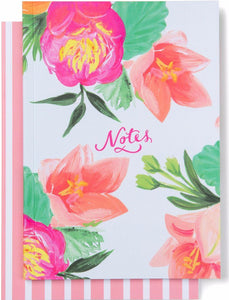 Amaryllis Floral Notebook Set of 2
