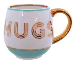 Bombay Duck Mint & Gold HUGS Cosy Mug