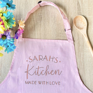 Personalised Made With Love Apron