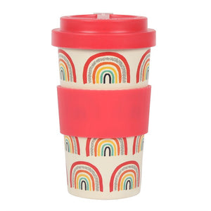 Rainbow Print Bamboo Eco Travel Mug