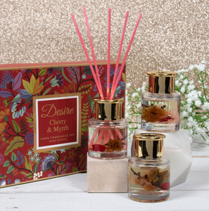 Set of 3 Floral Diffusers - Cherry & Myrrh