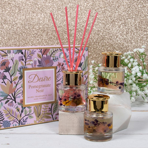 Set of 3 Floral Diffusers - Pomegranate Noir