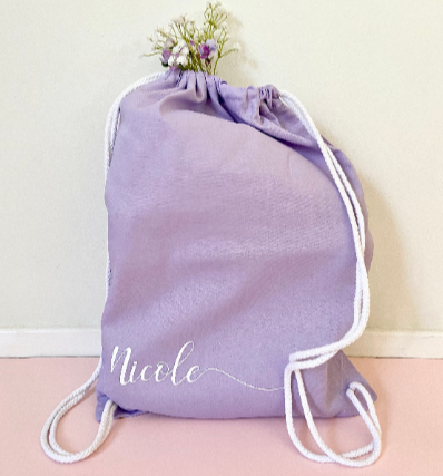 Personalised Name Drawstring Bag