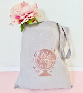 Worlds Best Mum Tote Shopping Bag