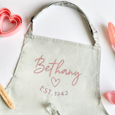 Personalised Name & Date Apron