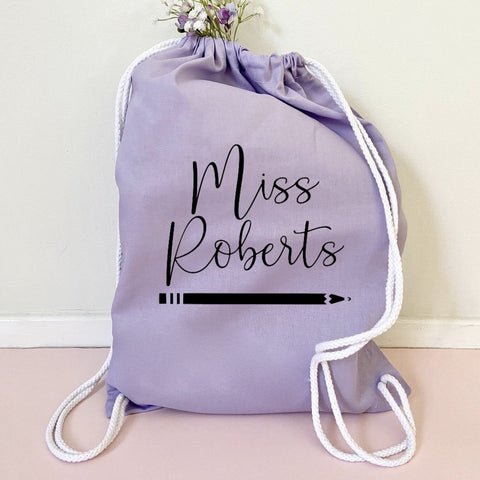 Personalised Teacher Draw String Bag