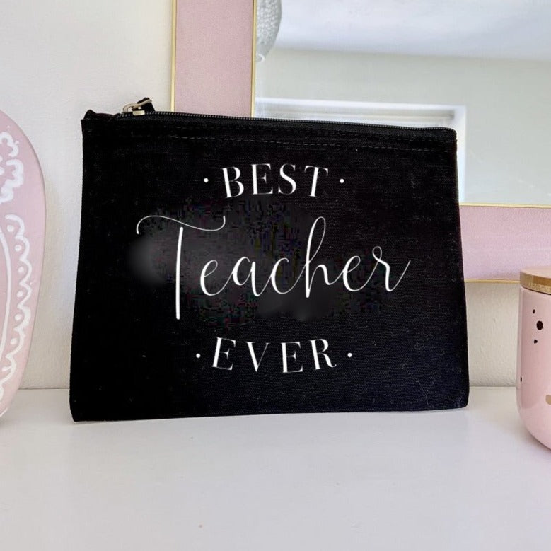 Personalised Best Teacher Ever Pouch