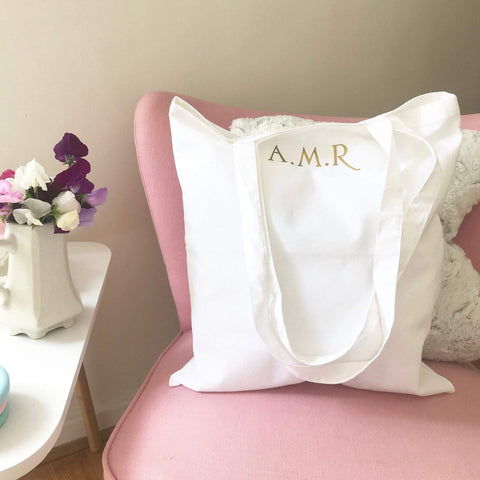 Personalised Initial Tote Shopper Bag
