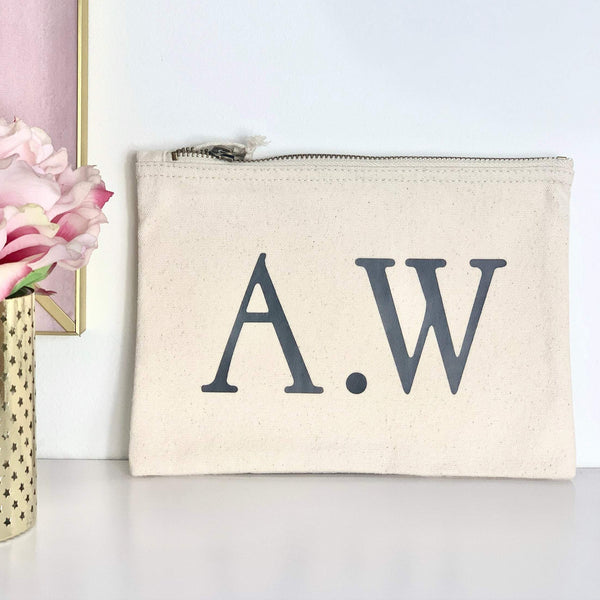 Personalised Make Up Initial Bag