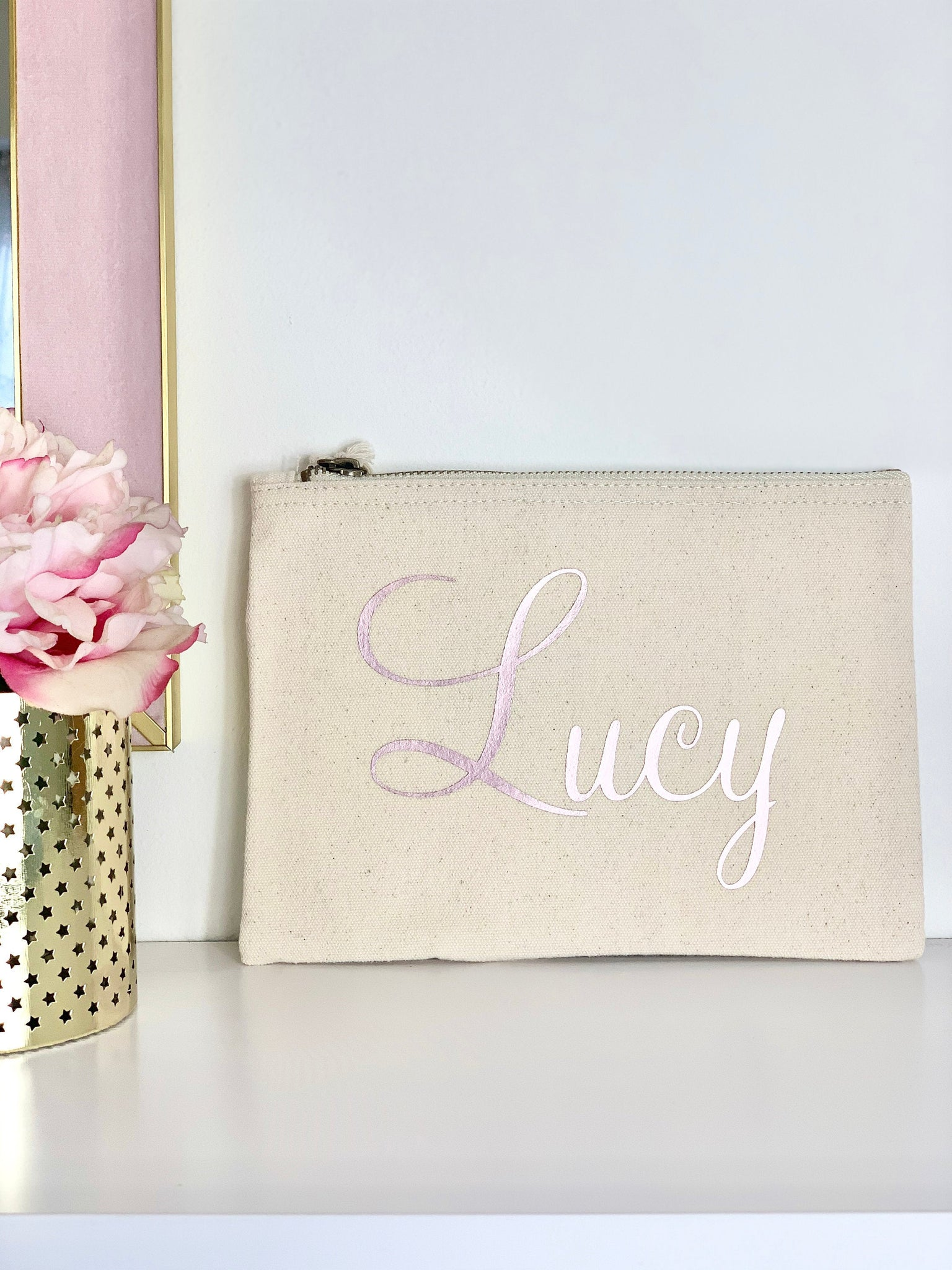 Personalised Make Up Bag Pouch