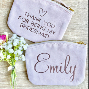 Personalised Bridesmaid Coin Purse