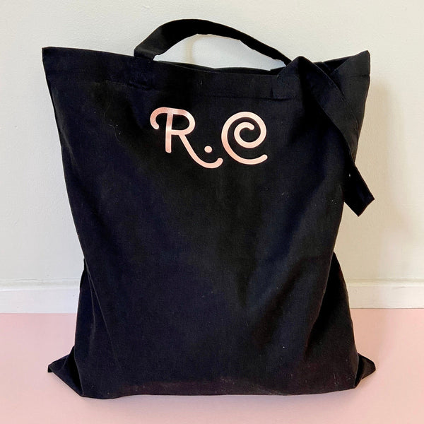 Personalised Name Initial Tote Shopper Bag
