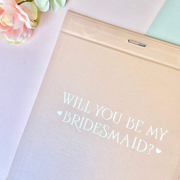 Personalised Proposal Bridesmaid Box