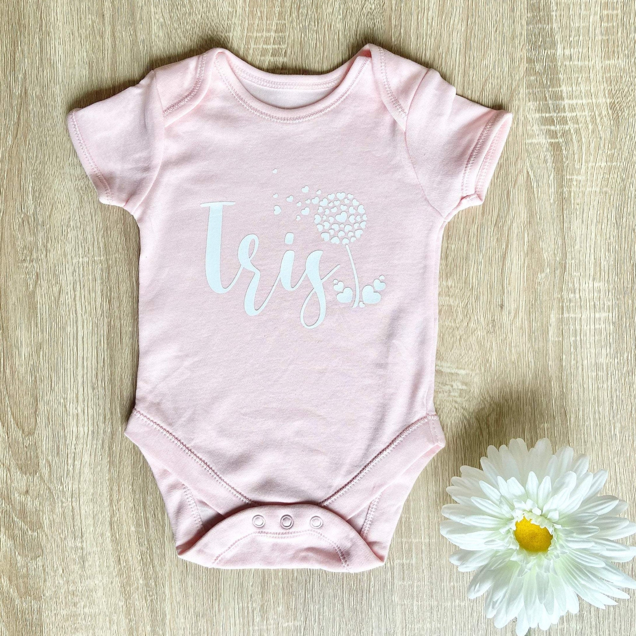 Personalised Flower Baby Grow Vest
