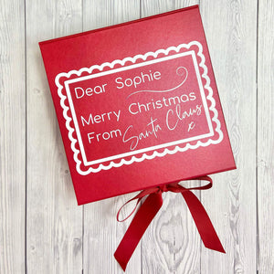Personalised Letter from Santa Christmas Gift Box