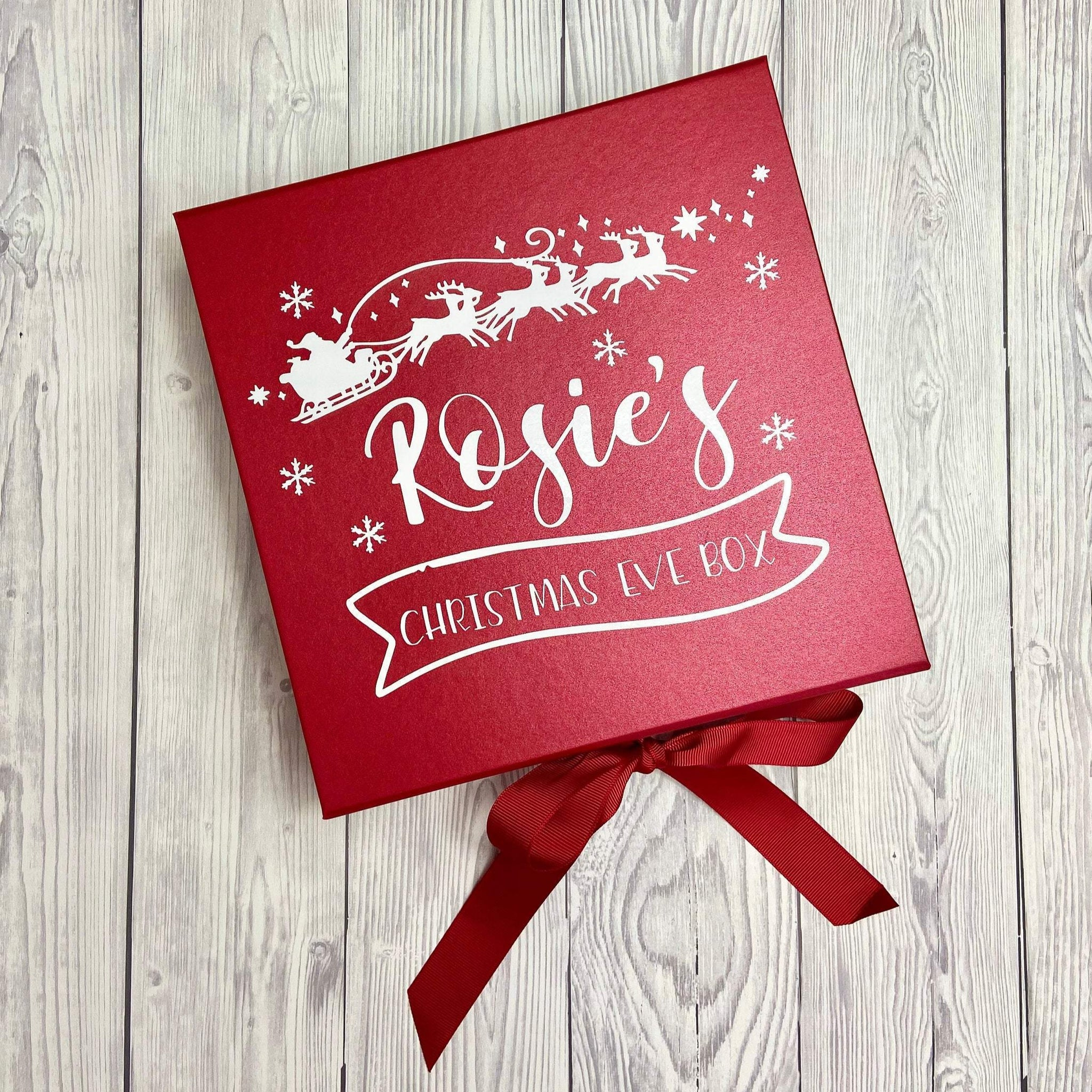 Personalised Santa's Sleigh Christmas Eve Box