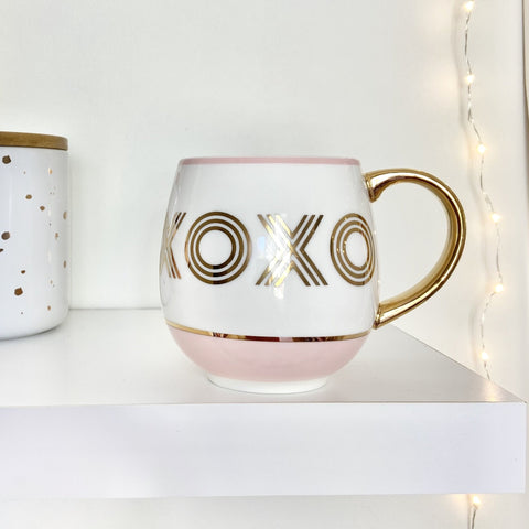 Bombay Duck Blush & Gold XOXO Cosy Mug