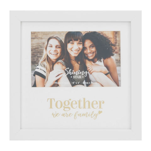 "Together We Are Family 6"" x 4"" Foil Frame"
