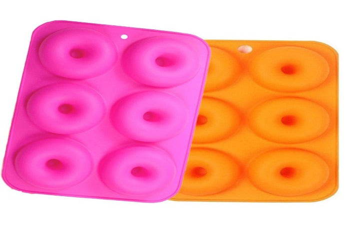 Silicone Donut Baking Mold Six-Cavity
