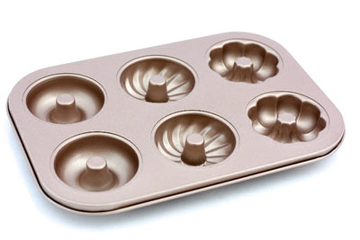 Tri-Pattern Rose-Gold Donut Pan