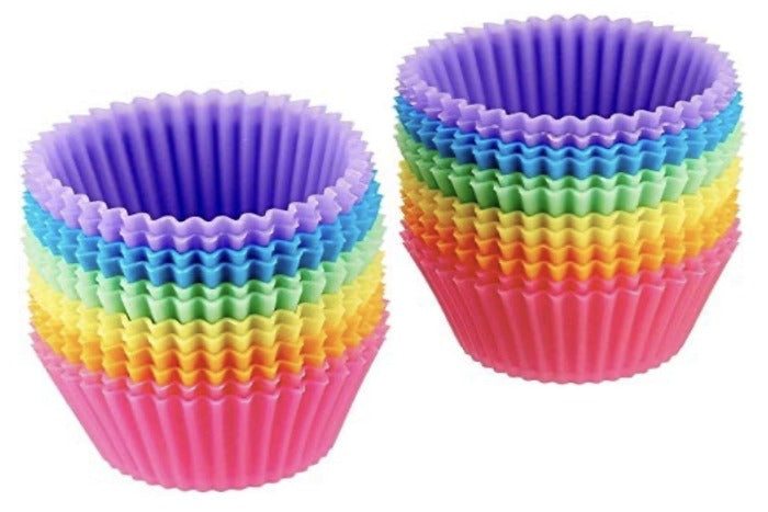 Silicone Muffin Cupcake Cups Mold 24X