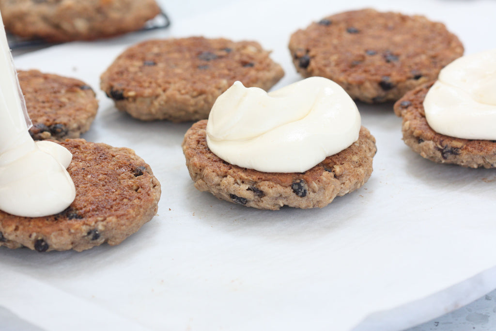 Oatmeal Blueberry Creme Pie