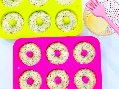 Raspberry Lemon Poppyseed Donuts