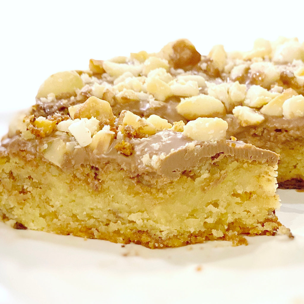 White Chocolate Macadamia Nut Brownie