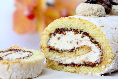Hazelnut Coffee Cream Swiss Roll