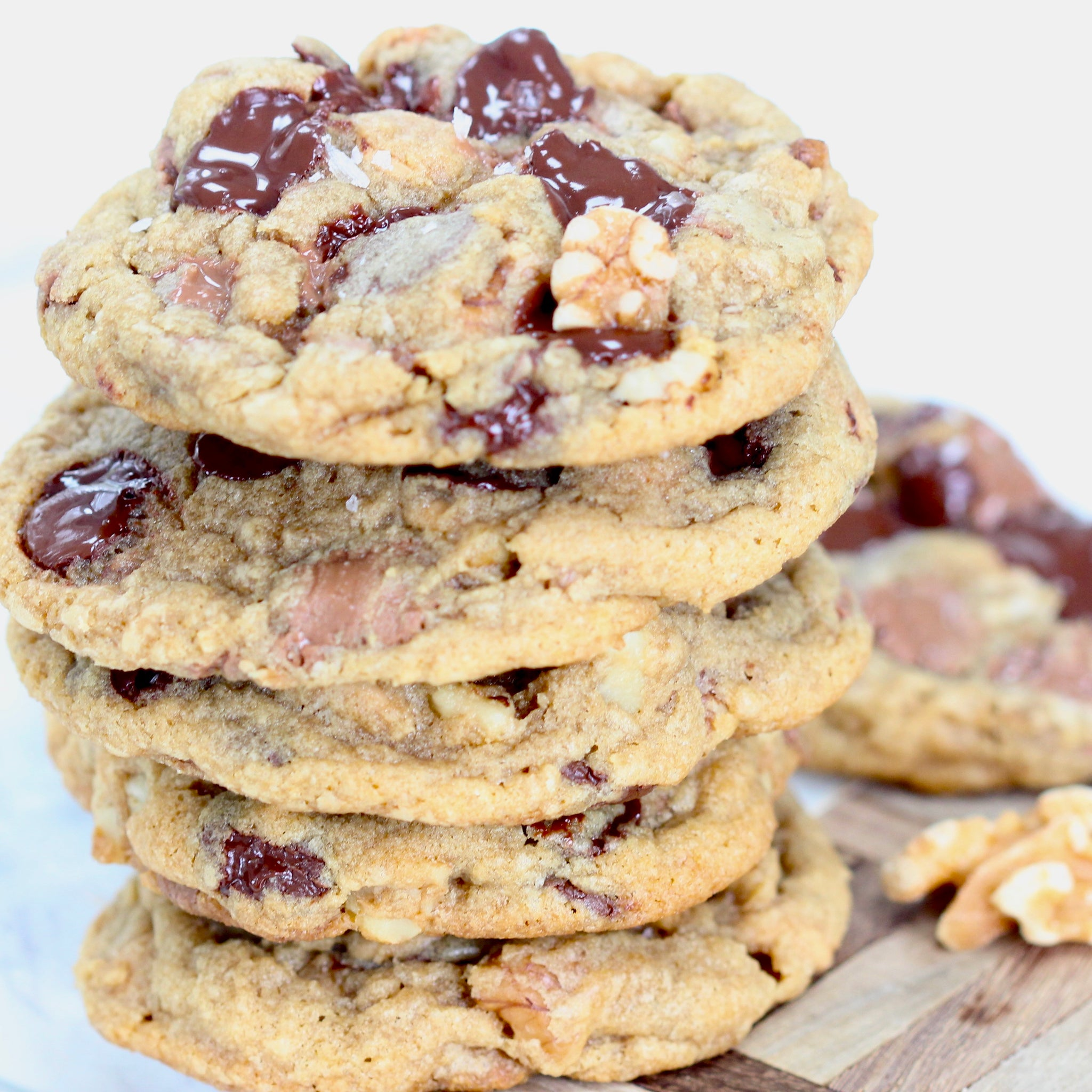 Triple Chocolate and Walnut Drop Cookies