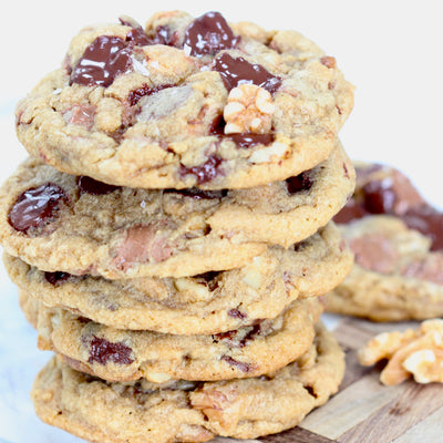 Triple Chocolate Walnut Cookies