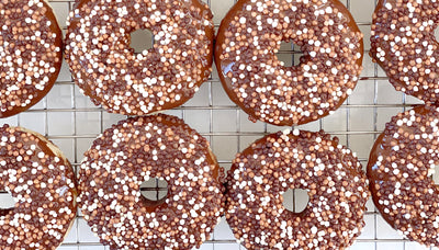 Chocolate-Glazed Vanilla Donuts
