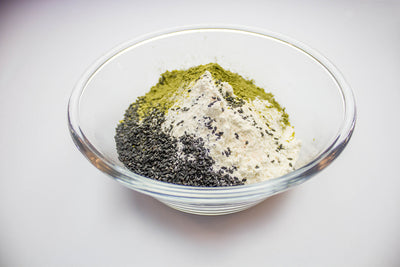 Matcha Black Seed Cookies
