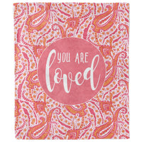 You Are Loved Paisley Blanket