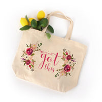 You've Got This Large Tote Bag