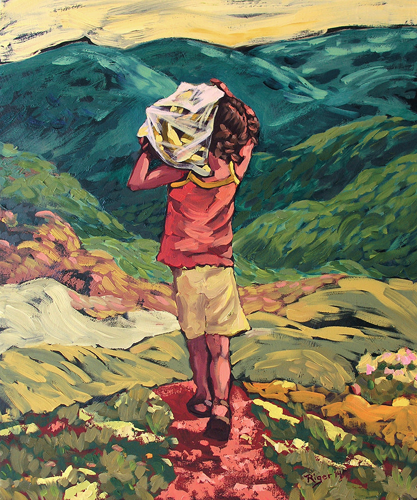 Honduran Child Carrying Plantains