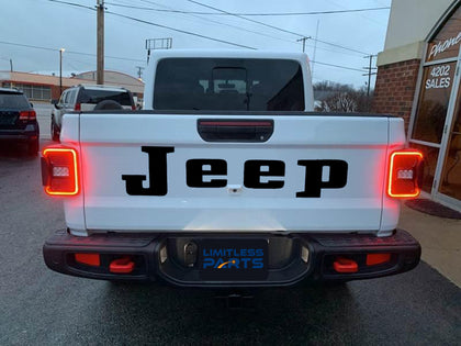 2020 Jeep Gladiator Tailgate Heritage Style Replacement Lettering