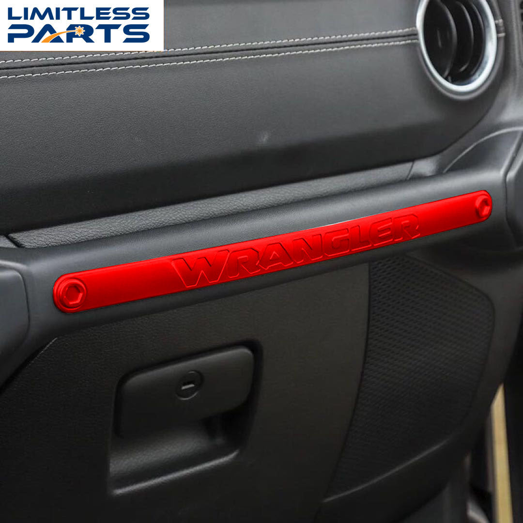 2018-2020 for Jeep Wranger JL Glovebox Grab Bar Cover Overlay