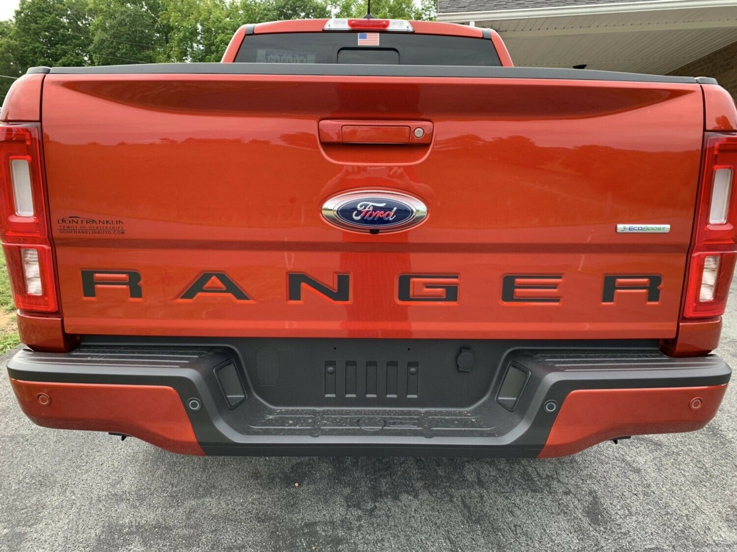 2019-2021 Ford Ranger Tailgate Letters ABS Plastic