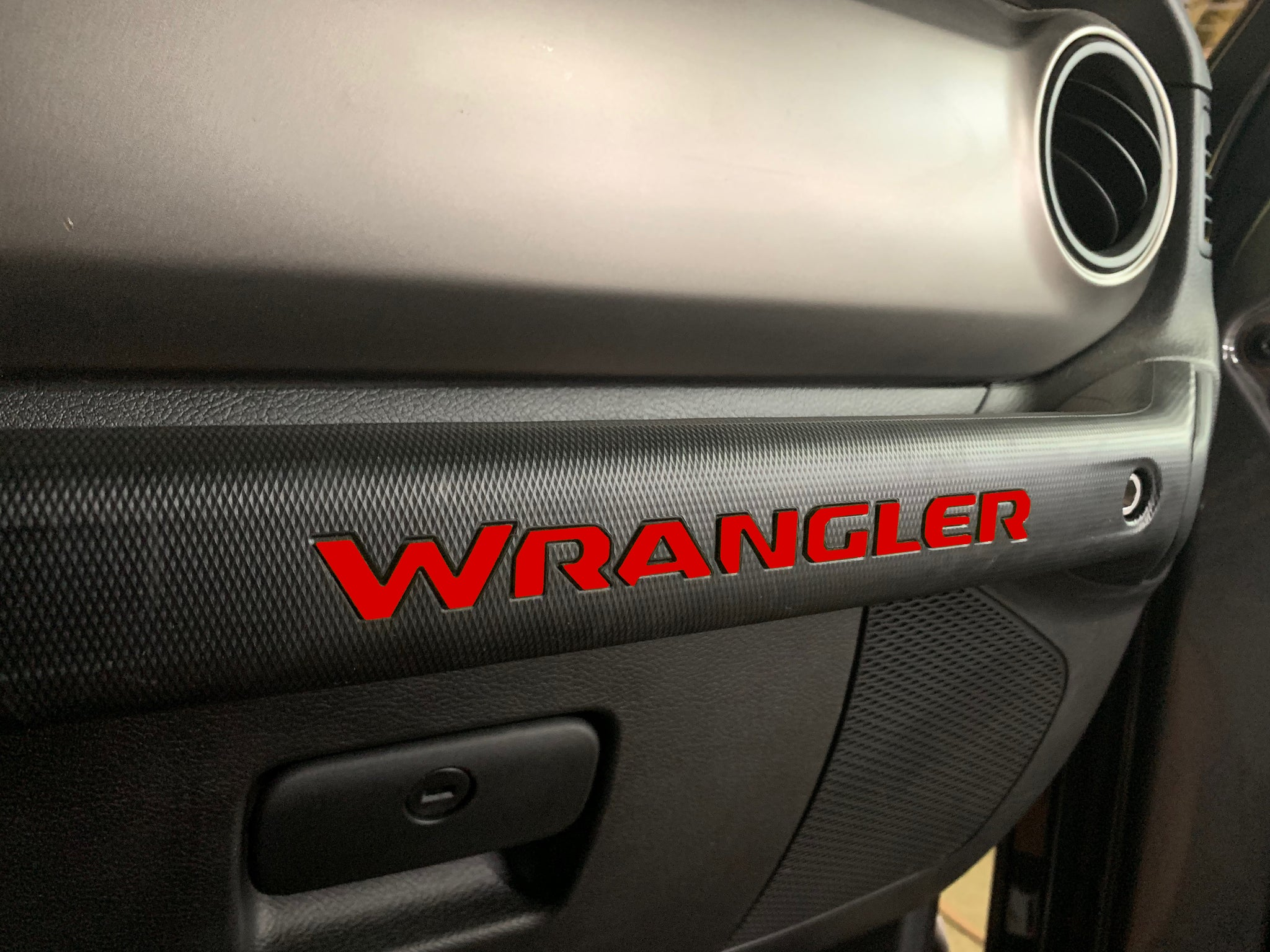 2018-2020 Jeep Wrangler JL Grab Handle Letters ABS Plastic