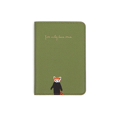 Red Panda Synthetic Leather Passport Polder