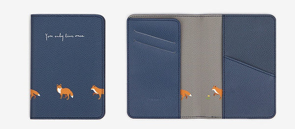 Red Fox Synthetic Leather Passport Holder
