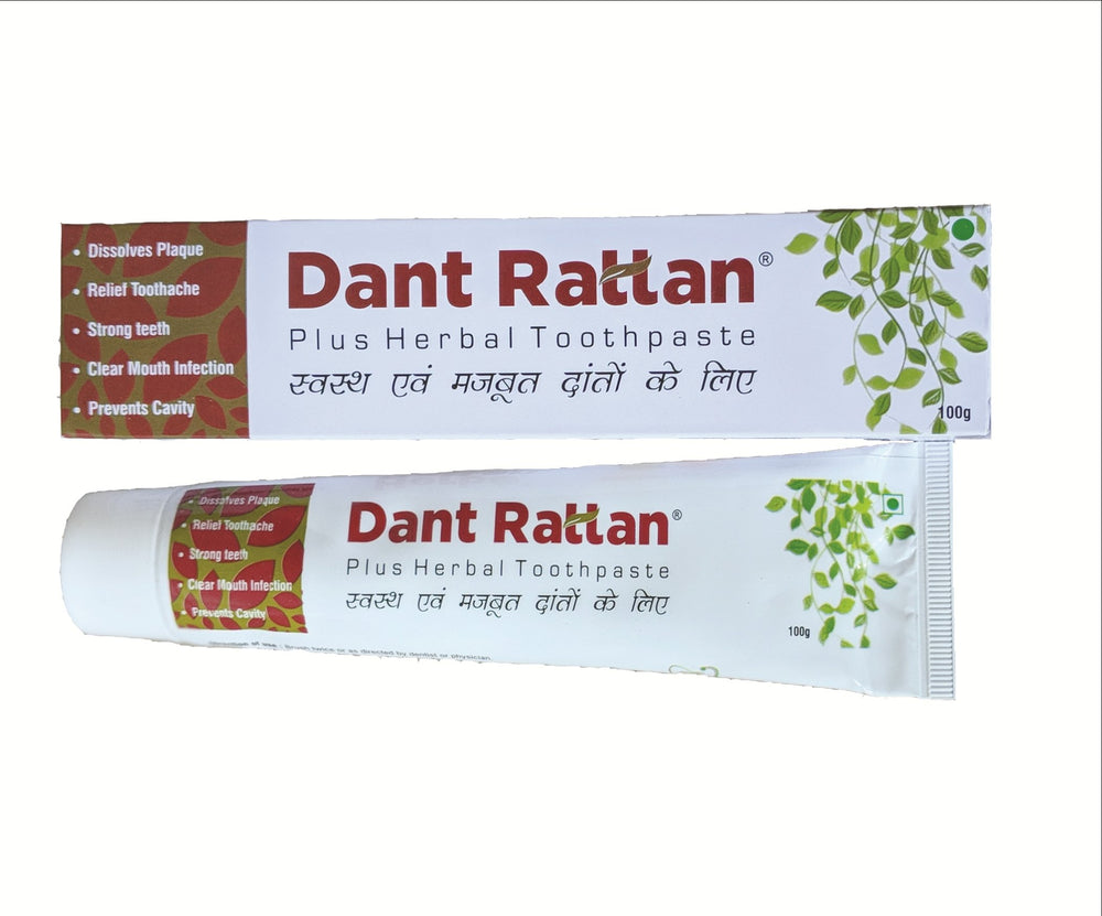 Dant Rattan Plus Herbal Toothpaste 100g - Sherza Allstore