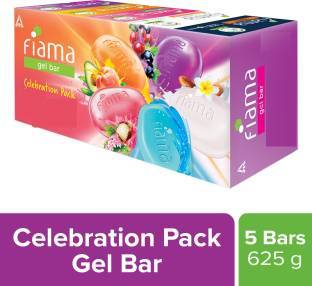 Fiama Gel Bar 125g*5 (Celebration Pack) (men) - Sherza Allstore