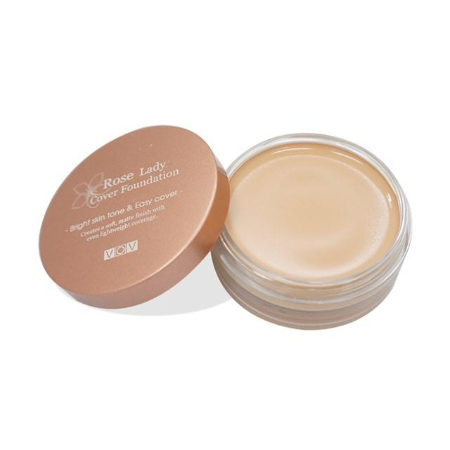 Rose Lady Cover Foundation Pink Beige Shade 2 22g - Sherza Allstore
