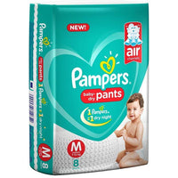 Pampers Pant Style Diapers Medium Size - 8 Pieces - Sherza Allstore