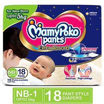 Mamy Poko Pants Extra Absorb Diapers NB18 - Sherza Allstore