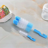 Baby bottle brush set with hook brush blister packaging cup brush - Sherza Allstore